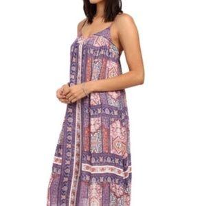 Lucky Brand Midi Boho Tapestry Print Shift Dress